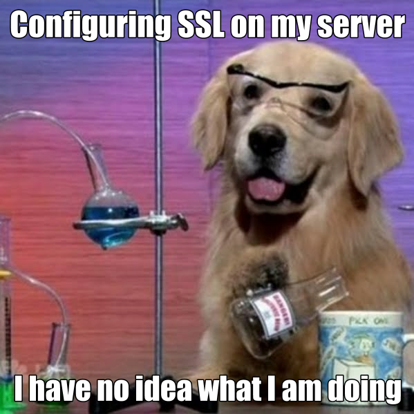 Configuring SSL on my Server Dog