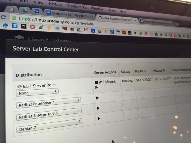 Linux Academy Server Control Lab