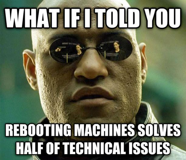 Rebooting Machines Solves Tech Issues